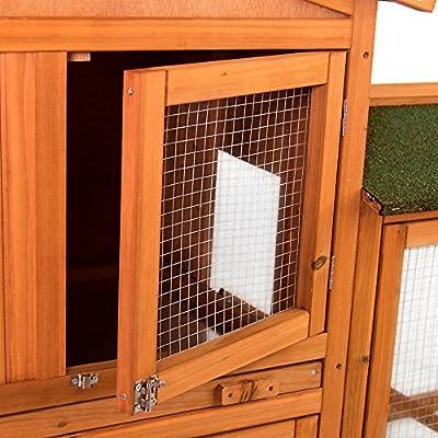 Home Discount Jaula de Madera para Mascotas, 2 Pisos, con Bandeja ...