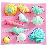 Yunko Silicone Ocean Shell Shape Fondant Silicone Sugar Craft Molds DIY Cake Decorating