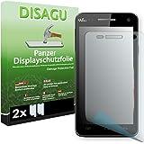 2 x DISAGU Film blindé film de protection d'écran pour Wiko Rainbow film de protection contre la casse
