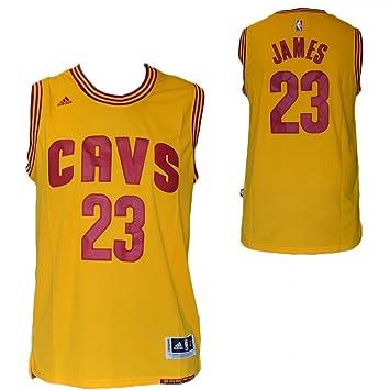 ABS1125 Camiseta Tirantes NBA - Lebron James - Cleveland Cavaliers - Color Amarillo - Talla L: Amazon.es: Deportes y aire libre