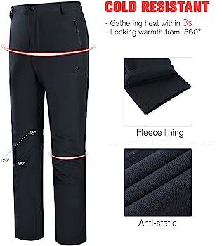 CAMEL CROWN Softshell Pantalon Femmes Coupe-Vent Imperm/éable Doubl/é Polaire Doubl/é Ext/érieur Randonn/ée Pantalon De Ski Pantalon Isol/é pour Femmes