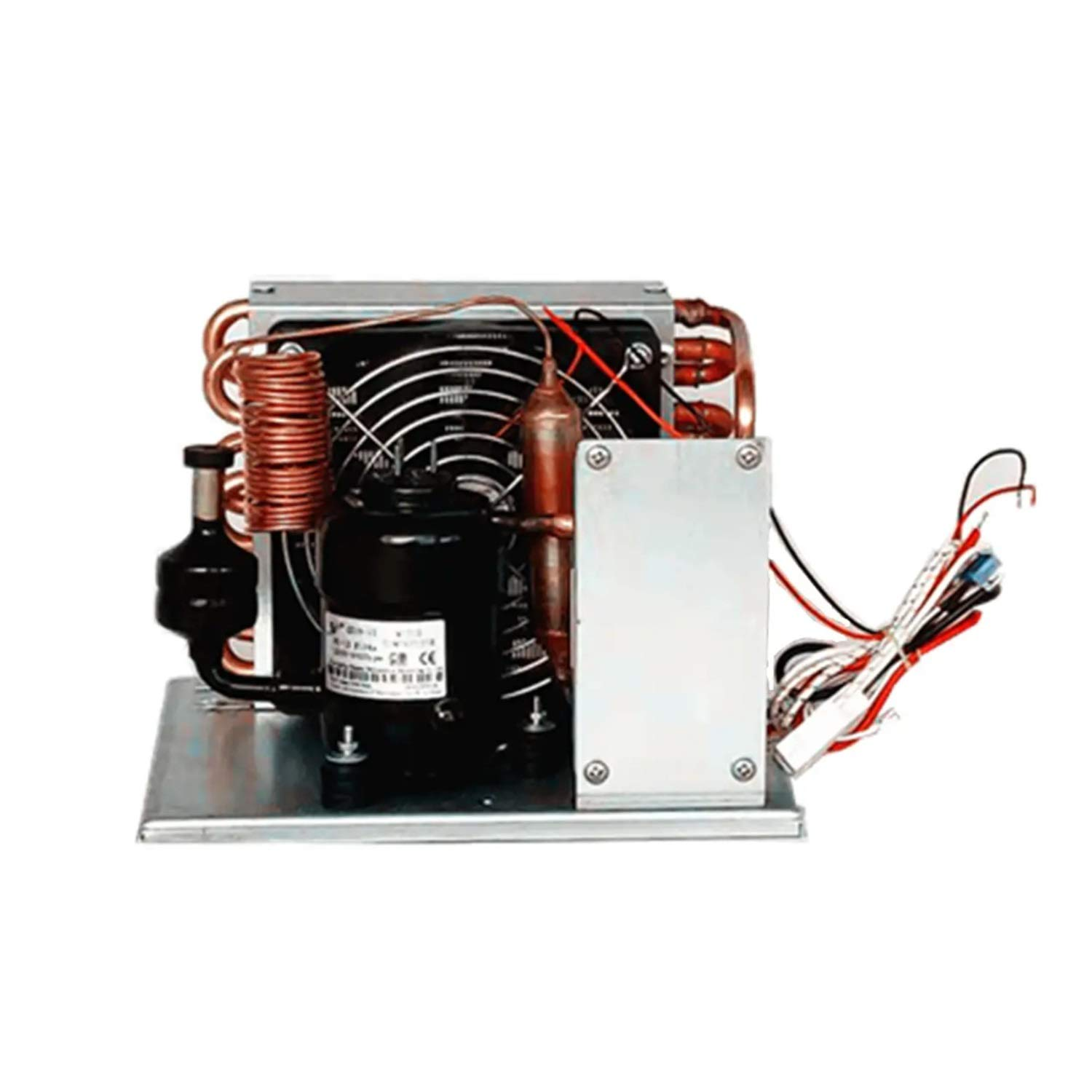 Shengjuanfeng Portable Cooling System Air Cooled Condensing Unit DC 12V 106-360W with R134A Refrigerant Direct Refrigeration Without Evaporator Small Cooling Unit