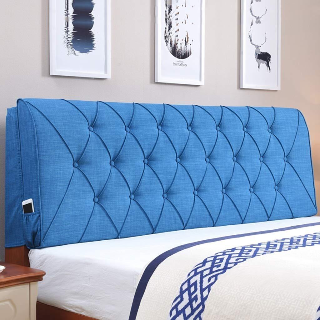 【SALE】 ベッドクッション型枕 - B07R4HLJ7X 120*60cm ベッドバック首脚膝枕サポート (色 さいず : 青, サイズ さいず : 160*6cm) B07R4HLJ7X 120*60cm 青 青 120*60cm, 稗貫郡:565528fc --- ns2.nicktailor.com