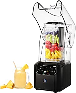JIAWANSHUN Commercial Smoothie Blender Heavy Duty 75OZ 2200W Ice Crusher Quiet Ice Blender Variable 15 Speed for Milkshake Fruit and Vegetable Juice Nut Butter (110V)