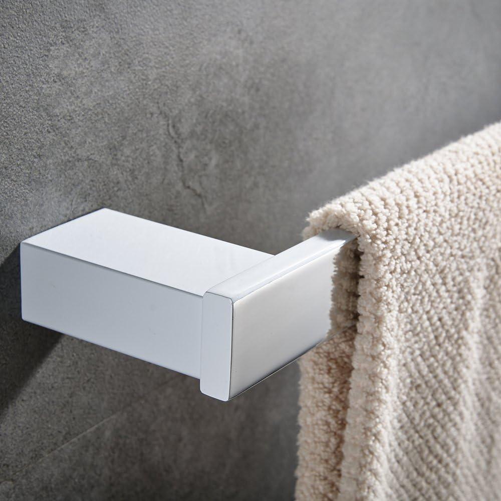 CASEWIND Blanco Toallero de barra de 60 cm color blanco acero inoxidable Robe Hook