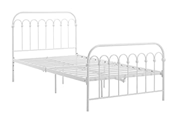novogratz bright pop twin metal bed white - Twin Iron Bed Frame