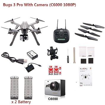 Fallibak Drone con Cámara MJX Bugs 3 Pro B3PRO WiFi Radio RC 1080P ...