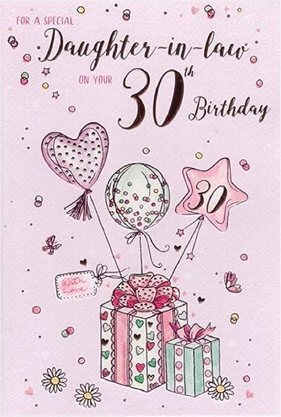 INC Tarjeta de felicitación de 30º cumpleaños, para nuera ...