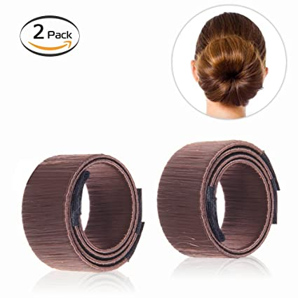 Bysiter Hair Styling Bun Maker Diy Hair Bundles Clip Curler Roller Tools French Twist Donut Bun Magic Hairstyle Kits For Women Girls 2 Pcs Reddish