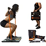 BodyBoss 2.0 - Full Portable Home Gym Workout Package + Resistance Bands - Collapsible Resistance Bar