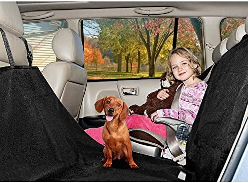 Furhaven Pet Furniture Cover Universal Car Seat Cover Cargo Protector Platform Bridge Adjustable Travel Barrier Organizer for Dogs Cats – Available in Multiple Colors Sizes