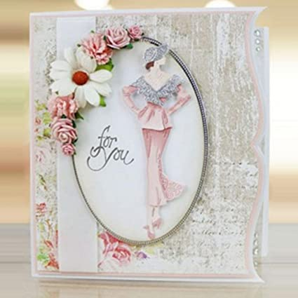 Amazon Afco Elegant Lady Model Cutting Die Stencil Album Paper