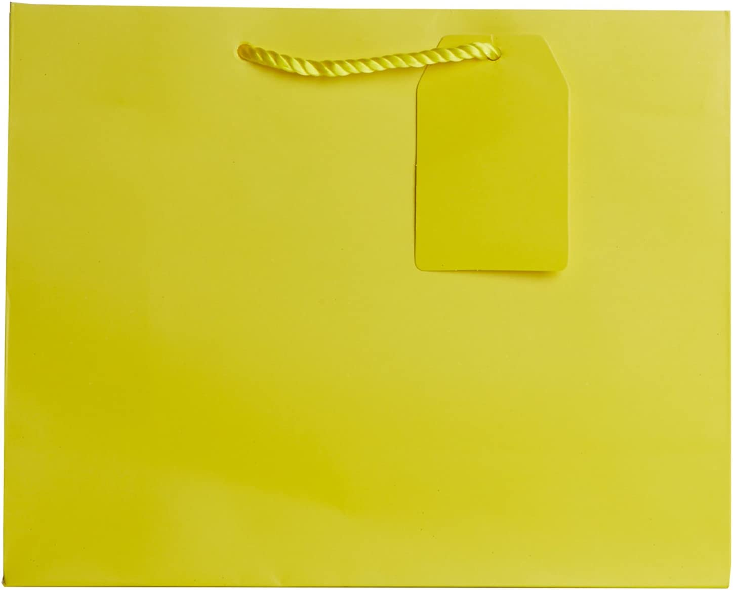 Jillson Roberts Bulk Large Gift Bags Available in 14 Colors, Yellow Matte, 120-Count 61YM5M6QxEL
