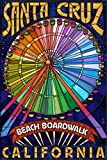 Santa Cruz, California - Beach Boardwalk Ferris Wheel (12x18 Art Print, Wall Decor Travel Poster) offers
