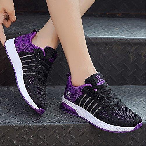 in in Low Cut C ginnastica Scarpe scarpe da tacco casual sportive da tulle mesh Sneakers donna per PU Estate traspirante donna piatto Scarpe SHINIK da xtRwqpUx