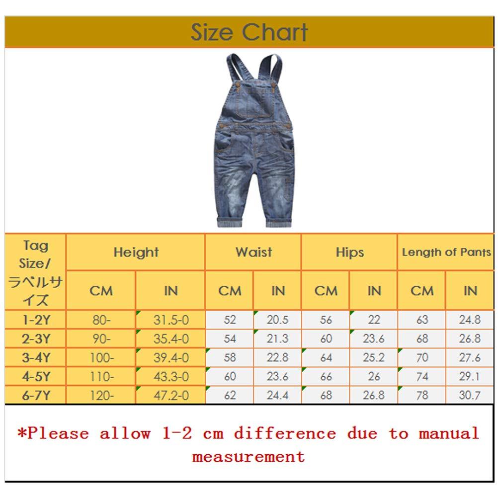 ARAUS Salopette Jeans Jumpsuit di Neonato Bimba Pantaloni Tute Outfit Casuale Estive 1-7 Anni