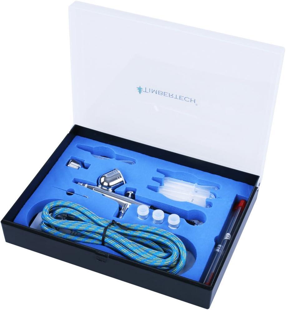 TIMBERTECH -Kit De Aerógrafo- ABPST01 - - Incluye Adaptador, Manguera, boquillas y Agujas