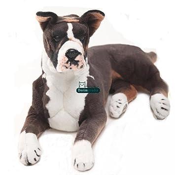 Amazon Com Boxer Dog Realistic Giant Stuffed Animal Plush Toy 31