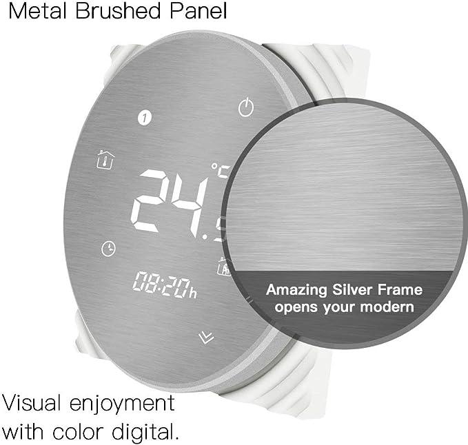 MOES Smart Thermostat WLAN Temperaturregler Smart Life APP Fernbedienung f/ür 5A Wasser Fu/ßbodenheizung Funktioniert mit Alexa Google Home