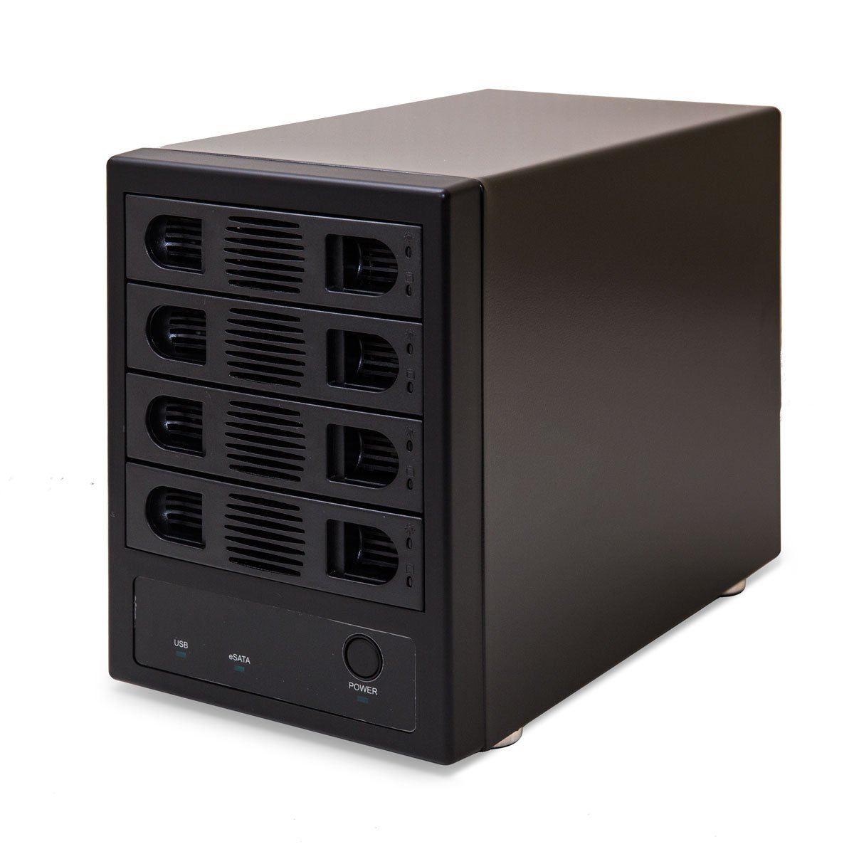 "Syba SY-ENC50104 4 Bay 3.5"" SATA III HDD NON-RAID Enclosure – Supports USB 3.0 & eSATA Interface"