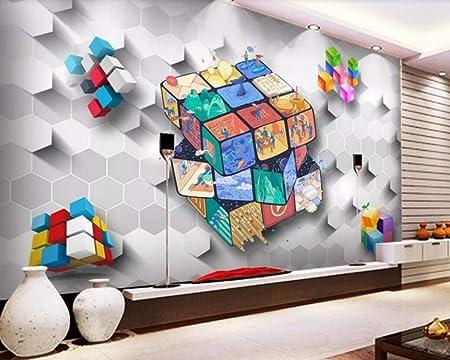 Wall Mural 3d Wallpaper Rubiks Cube Modern Custom Photo