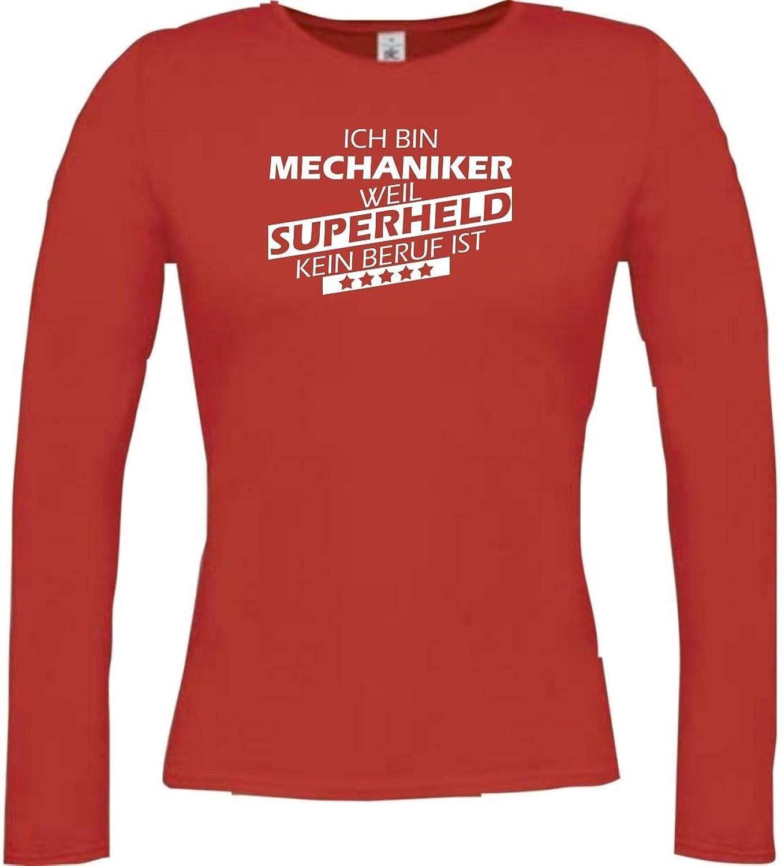 Shirtstown Camisa Larga de Mujer Estoy Mecánico, Weil Superheld sin Trabajo ist,: Amazon.es: Ropa y accesorios