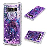 Galaxy Note 8 Case, Liquid Glitter Case Bling Shiny Sparkle Flowing Moving Love Hearts Cover Clear Ultral Slim Protective TPU Bumper Shockproof Drop Resistant Case for Samsung Galaxy Note 8 KASOS
