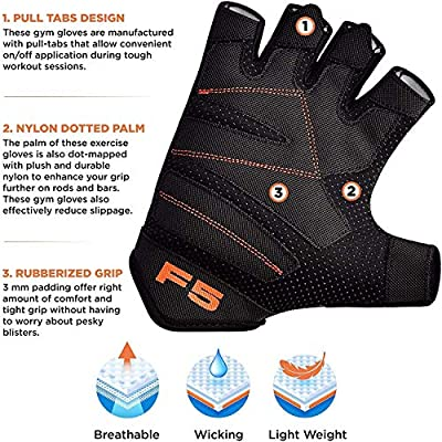 Padded Weight Lifting Gloves Training Gym BodyBuilding Fitness Workout Cycling