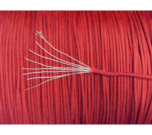 550 Red Berry - 5col 550 Type 3 Parachute Paracord in Red - MIL-C-5040H & PIA-C-5040 (100 Feet)