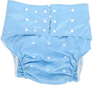 Adult Pocket Nappy, Reusable AdjustableWashable Comfortable Adult Pocket Nappy CoverDiaper Cloth for the Old, the Disabled, Pregnant Woman(Dark Blue)