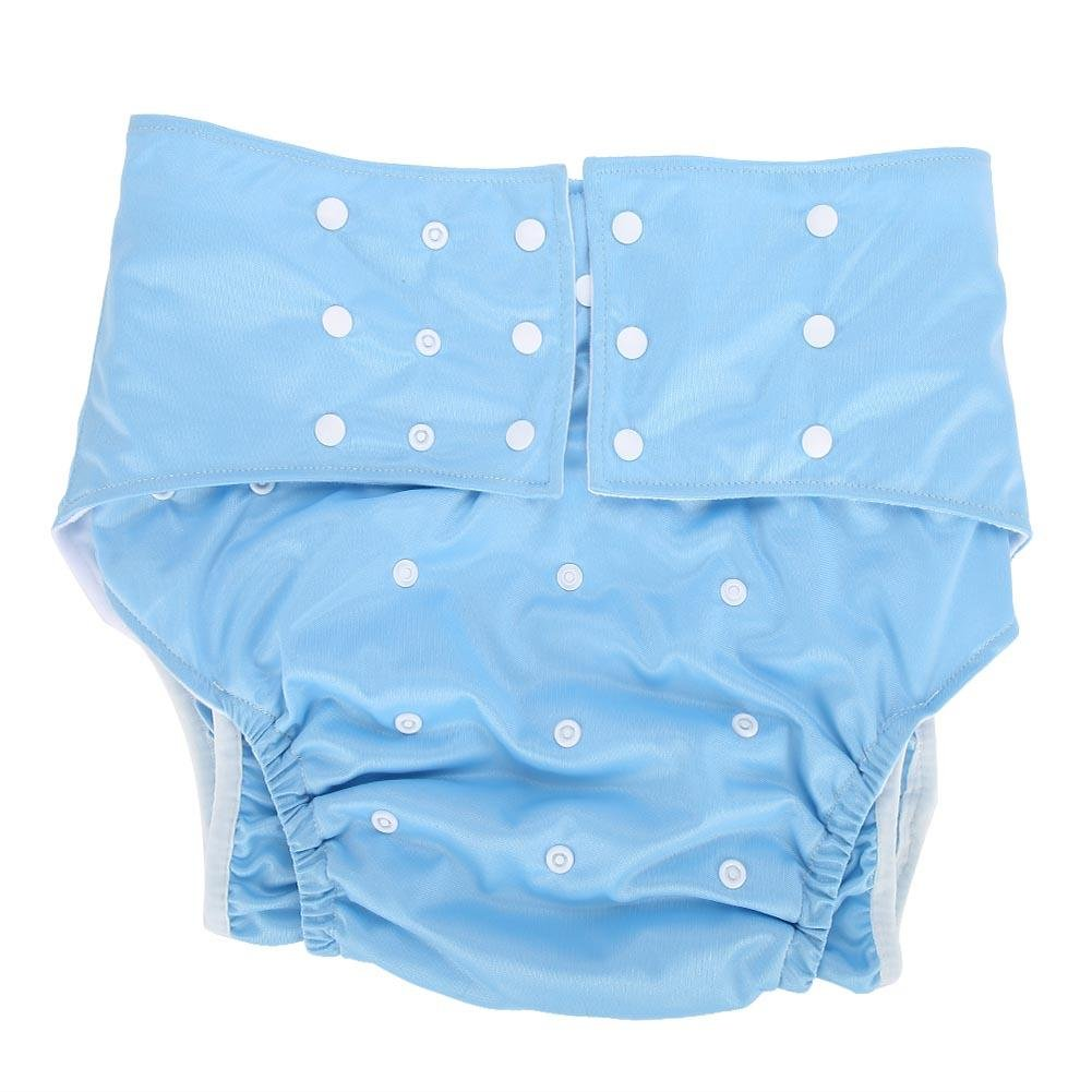 Adjustable Reusable Diaper Cloth Suitable for the Old the Disabled Adult Diapers Pregnant Woman Grey 5 Colors Waterproof Adult Brief Diapers or Washable Adult Pocket Nappy Cover