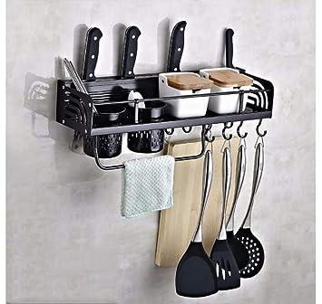 Soporte de pared para ollas y sartenes, estante de cocina de ...