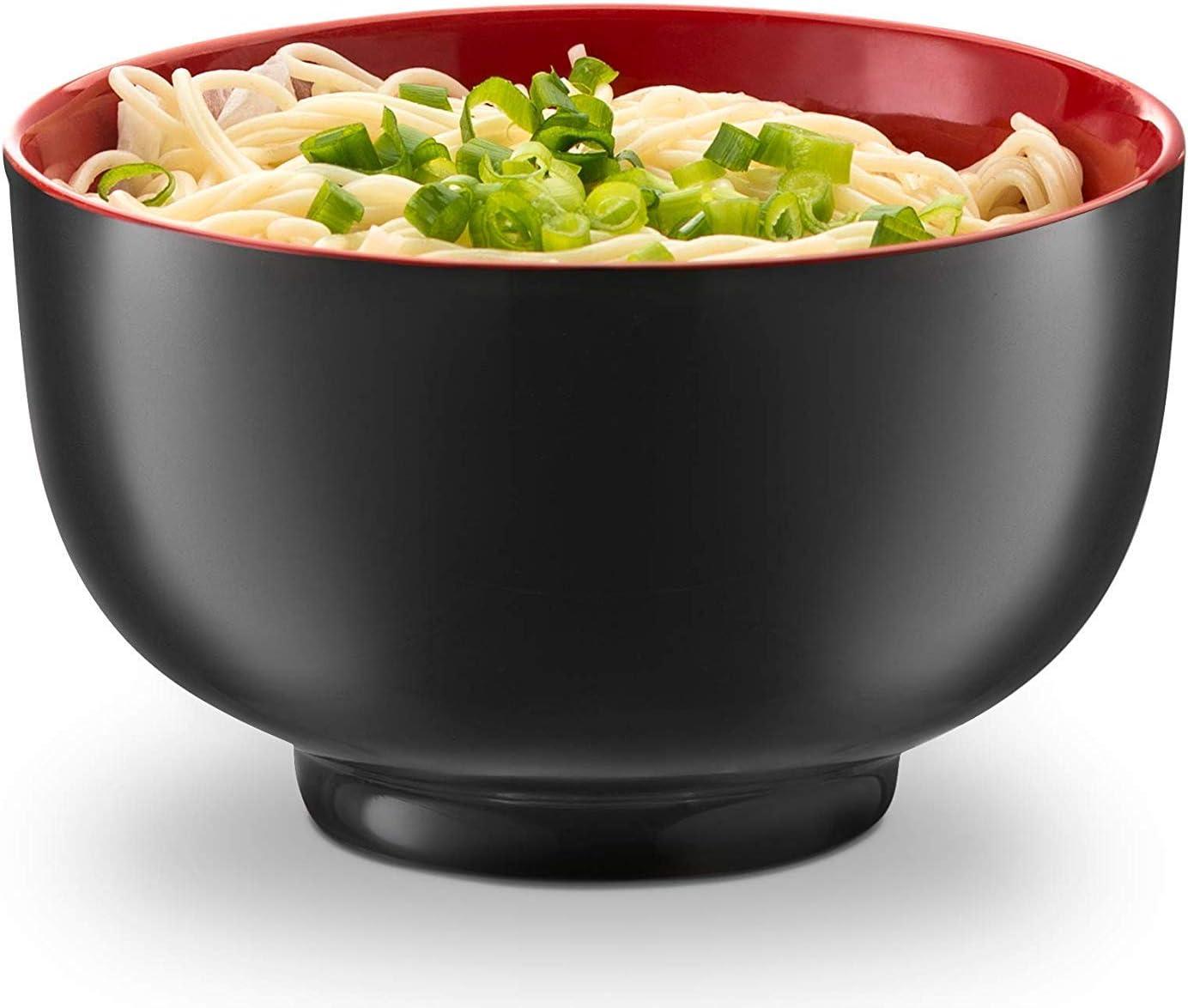 soupe bols chinois DOITOOL Lot de 4 bols en c/éramique japonais de c/ér/éales de Ramen bol de riz en porcelaine blanche et bleue pour c/ér/éales doux salon de riz