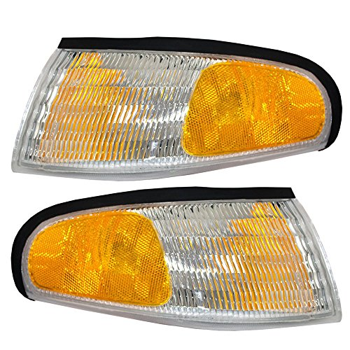 Aftermarket Replacement Left Right Sides Pair Corner Signal Lights for 1994 1995 1996 1997 1998 Ford Mustang