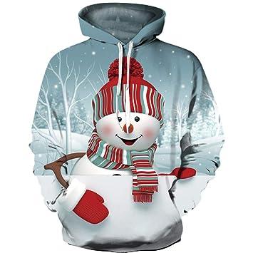 OOFAY 3D Prints Jersey, La Navidad Sudadera Transpirable Sudaderas con Estampados Pareja De Béisbol Uniforme