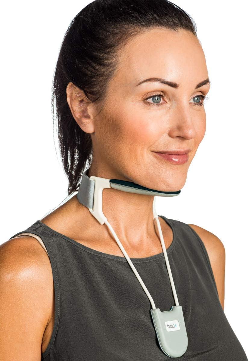 BACK - Collarín cervical - Para aliviar el dolor y mejorar la postura del cuello - Negro - Mediano