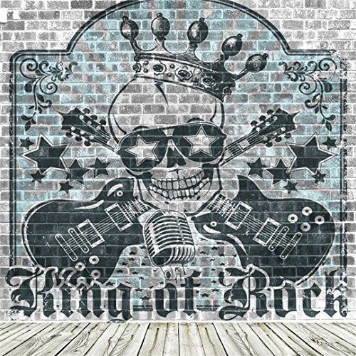 Concert Series Club Speaker (AOFOTO 8x8ft Rock Music Photography Background Skull King Guitar Grunge Graffiti Brick Wall Backdrop Fashion Punk Vocal Concert Retro Stylish Trendy Man Boy Girl Portrait Photo Studio Props Wallpaper)