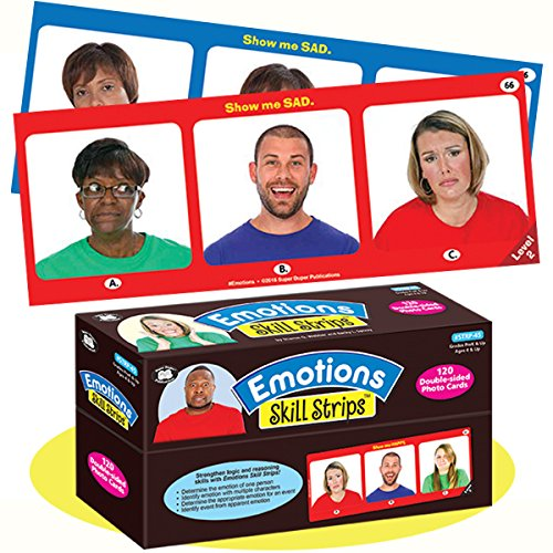 - Super Duper Publications Emotions Skill Strips Photo Flash Cards Educational Learning Resource for Children