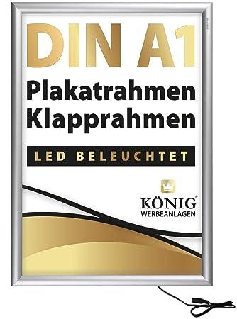 Dreifke® - Marco de Cartel con iluminación LED DIN A1, Marco ...