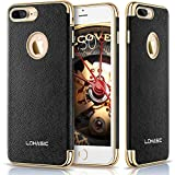 "iPhone 7 Plus Case, LOHASIC Premium Leather Flexible Soft Bumper Cover [Slim Body] Luxury Non Slip Protective Shockproof Anti-Scratch Cases for iPhone 7 Plus - [Black, 5.5""]"