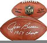 Jim Brown Cleveland Browns Autographed Duke Pro Football with 1964 Champs Inscription - Fanatics Authentic Certified