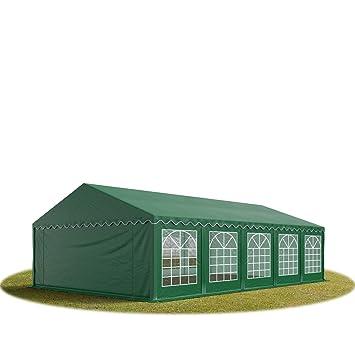 TOOLPORT 5x10 m Tente de réception/Barnum Vert foncé Toile de Haute ...
