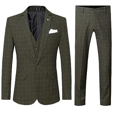 Allthemen Costume Homme cérémonie Costard 3 Pcs Veste Gilet Pantalon  Business 4d9f34ba1f7