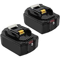 [2 Packs] Powayup BL1860B 18V 5.5Ah Batería de Repuesto para Makita BL1860B BL1860