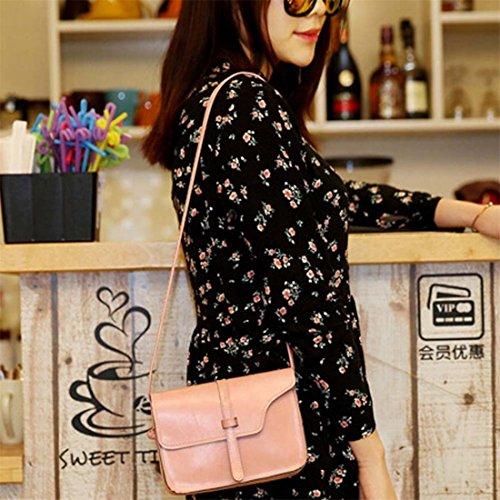 Brezeh vintage femmes à main sac Sac rose en noir cuir à sac bandoulière pour 5qZTwnxH