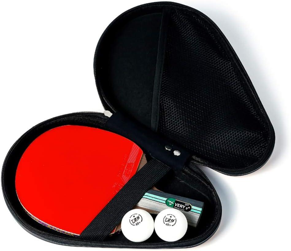 JWD HOME Table Tennis Paddle Professional - Paleta De Ping Pong con Estuche De Transporte - Goma Aprobada para Jugar En Torneos