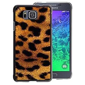 A-type Arte & diseño plástico duro Fundas Cover Cubre Hard Case Cover para Samsung ALPHA G850 (Panther Fur Africa Animal Pattern Gold)
