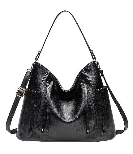 551bbfab378 Amazon.com: Jeefhe Women's Totes Bags PU Leather Crossbody Top ...
