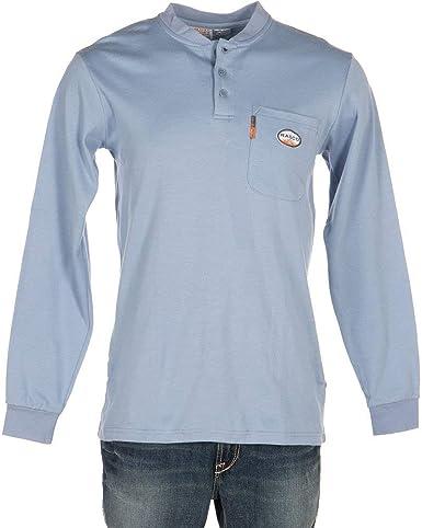 Rasco FR Ropa Hombres del Cazador Henley Camiseta