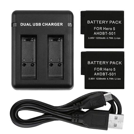 Accesorio de cámara Cargador de batería USB con Ranuras de ...